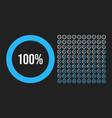 big set circle percentage diagrams from 0 vector image vector image