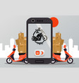 bike delivery service for vector image