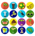 Brazil country set icons in flat style Big vector image vector image