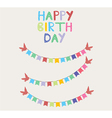 bunting birthday card vector image vector image
