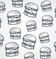 burger sketch theme vector image