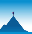 business mission concept visionary on mountain vector image