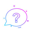 chat bubble icon design vector image