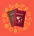 china travel and tourism concept card vector image vector image