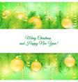 Christmas card Christmas yellow toys vector image vector image
