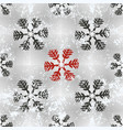 christmas seamless background with red grungy vector image