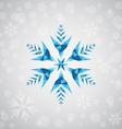 Christmas snowflake of geometric shapes