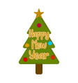 christmas tree icon happy new year vector image vector image