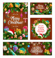 christmas winter holiday gifts and decorations vector image vector image