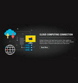 cloud computing connection banner internet with vector image vector image