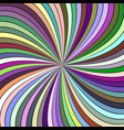 colorful psychedelic abstract spiral burst stripe vector image vector image