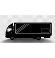 detailed silhouette truck vector image