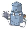 doctor milk can character cartoon vector image vector image