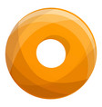 donut cookies bakery icon cartoon style vector image