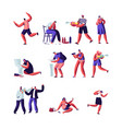 drinkers and people playing with water guns set vector image