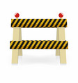 fence light construction icon under construction vector image vector image