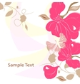 Floral background card frame vector image vector image