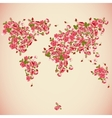 Flower World Map Eco Abstract background vector image vector image