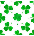 four-leaf clover seamless pattern background vector image vector image