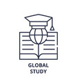 global study line icon concept global study vector image vector image