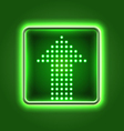 Green arrow neon icon vector image vector image