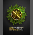 green pine branches blur decorative christmas vector image