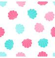 hand drawing clam pattern seamless vector image