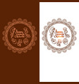 happy ganesh chaturthi greeting card set vector image vector image