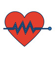 heart beat pulse for medical rhythm cardiac vector image vector image