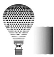 hot air balloon black silhouette vector image vector image