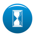 hourglass icon blue vector image vector image