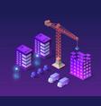 industrial city building vector image