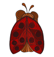 ladybug with red wings and dots vector image vector image