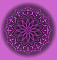 light purple mandala in optical art style for vector image vector image