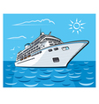 luxury cruise liner vector image