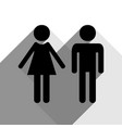 male and female sign black icon with two vector image