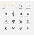 Medical Professions - line design pictograms set vector image