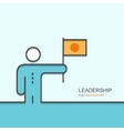 modern outline flat design of leadership vector image vector image