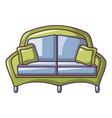 modern sofa icon cartoon style vector image