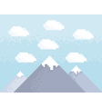Mountain pixel art vector image vector image