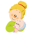 mum and baby vector image vector image