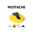 Mustache icon in different style vector image vector image
