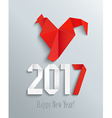 New 2017 year in origami style vector image