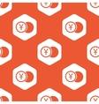 Orange hexagon yen coin pattern vector image vector image