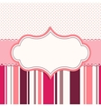 pink frame for greeting card vector image
