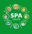 plant logo for Spa salon on a green background vector image vector image
