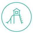 Playhouse with slide line icon vector image vector image