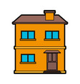 pretty family house icon image vector image