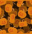 pumpkin seamless pattern 3d halloween background vector image vector image