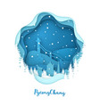 pyeongchang in the snow paper city style vector image vector image